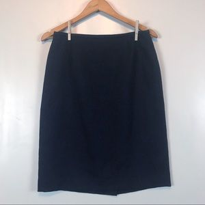 Talbots Women's Navy Embossed Pencil Skirt Size 8